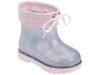 MINI MELISSA RAIN BOOT BB PINK/CLEAR GLITTER