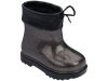 MINI MELISSA RAIN BOOT BB BLACK/GLASS MULTICOLOR GLITTER