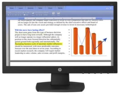 Monitor HP V194, Pantalla 18,5