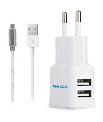 Cargador Doble Usb Cable R2100 Philco1