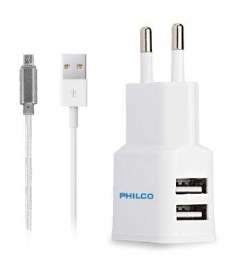 Cargador Doble Usb Cable R2100 Philco1