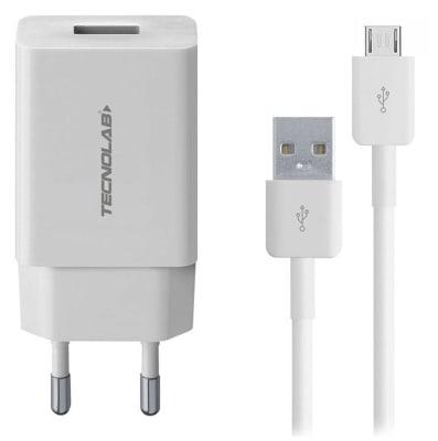 Cargador Doble Usb con Cable Tl41w Tecnolab1