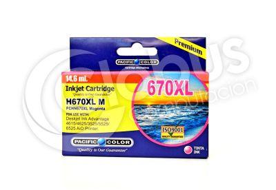 Cartridge 670 Xl Magenta Pacific Color1