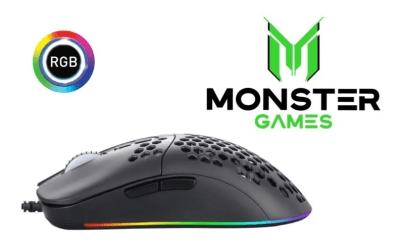 Mouse Gamer Honeycomb M5062 Monster 6400 DPI1