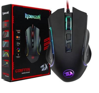 Mouse Gamer Rgb Griffin M607 RedDragon7