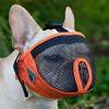 Bozal de nylon con malla para perros de hocico corto