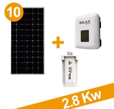 Oferta Kit 2850w, 10x285w + inv x1-3.0 + wifi