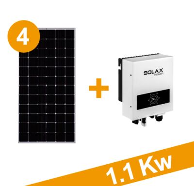 Oferta kit 1140w, 4 paneles 285w C/U Inversor X1-1.1 Mini