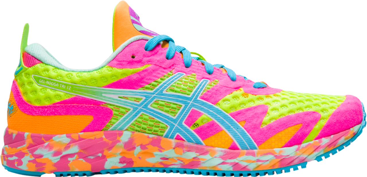 Asics - Gel Noosa Tri 12 - Safety Yellow/Aquarium - Mujer - Neutro/Pronacion