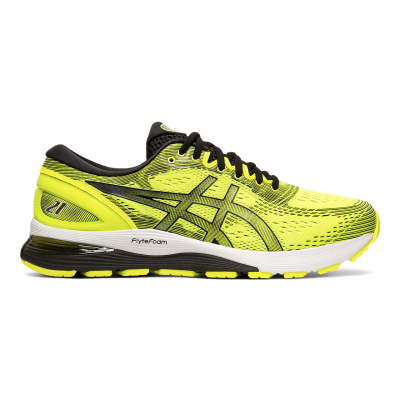 Asics - Gel Nimbus 21 - Safety Yellow/Black - Supinador/Neutral - Hombre