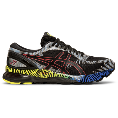 Asics - Gel Nimbus 21 LS -Black/Electric Blue - Hombre - Supinacion/Neutral