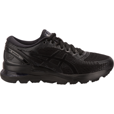 Asics - Gel Nimbus 21 - Black/Black - Mujer - Supinacion/Neutral