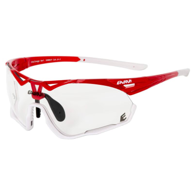 Lentes para Ciclismo - EASSUN - CHALLENGE - Marco Shiny Red/White - Lentes Photo Cromic 0-2
