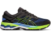 Asics - Gel Kayano 26 - Black/Electric Blue - Hombre - Pronador - Zapatilla - nnp 1