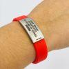 Pulsera de identificación IDOO Slim ID -Rojo 3