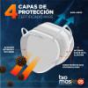 BioMask - Mascarilla KN95 Reutilizable de Tela con Nanoparticulas de Cobre 1