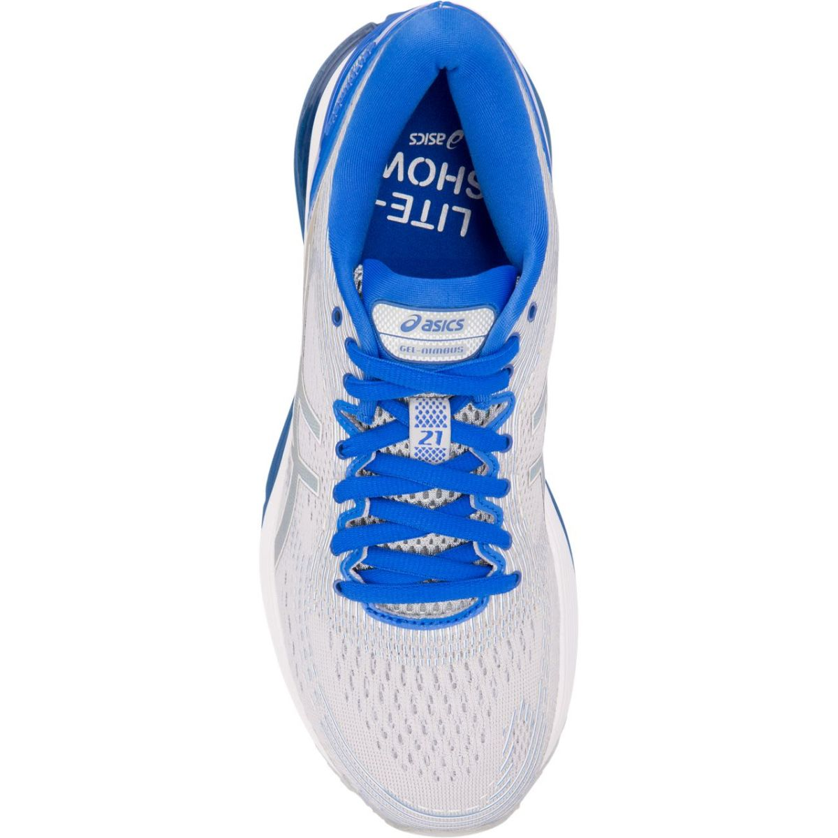 0d62b3850 Zapatilla - Asics - Gel Nimbus 21 Lite Show - Mid Grey Illusion Blue ...