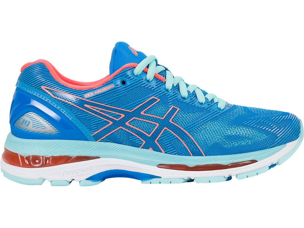 Zapatilla - Asics - Gel Nimbus 19 - Diva Blue/Flash Coral/Aqua Splash -  Mujer - Supinador/Neutro snp