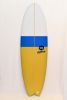 Surfboard HR California RETRO FISH - White/Blue/Mustard