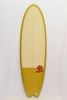 Surfboard HR California RETRO FISH - Mustard/Cream