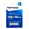CHIP ENTEL PREPAGO 1GB + 30 MIN
