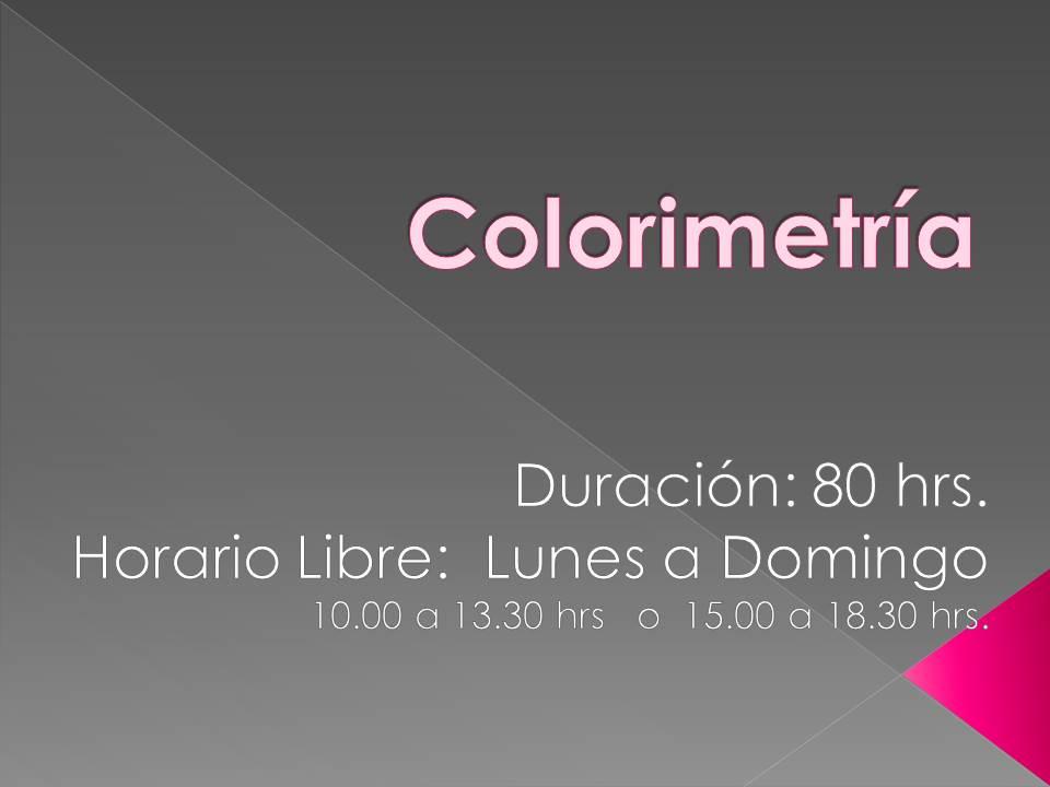 Curso Colorimetría
