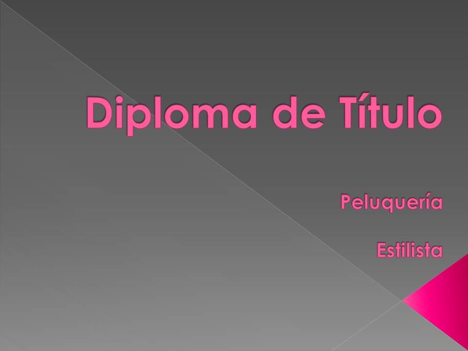 Diploma Peluquería / Estilista