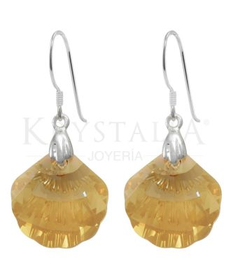 Aros Plata 925 cristales de Swarovski Krystalia Shell GSHA KR0706-00