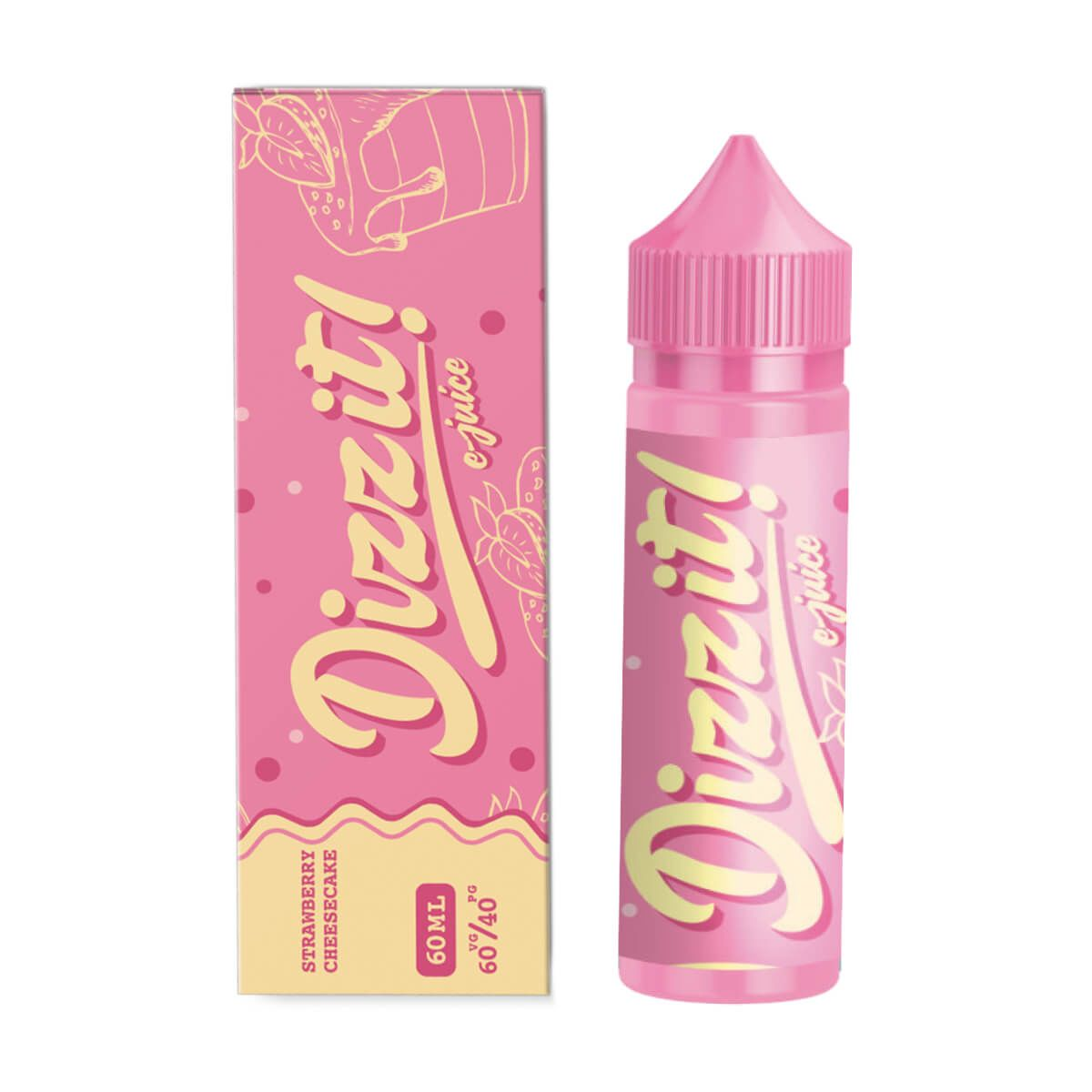Dizz It Strawberry Cheesecake 60ml - Cheesecake de Frutilla