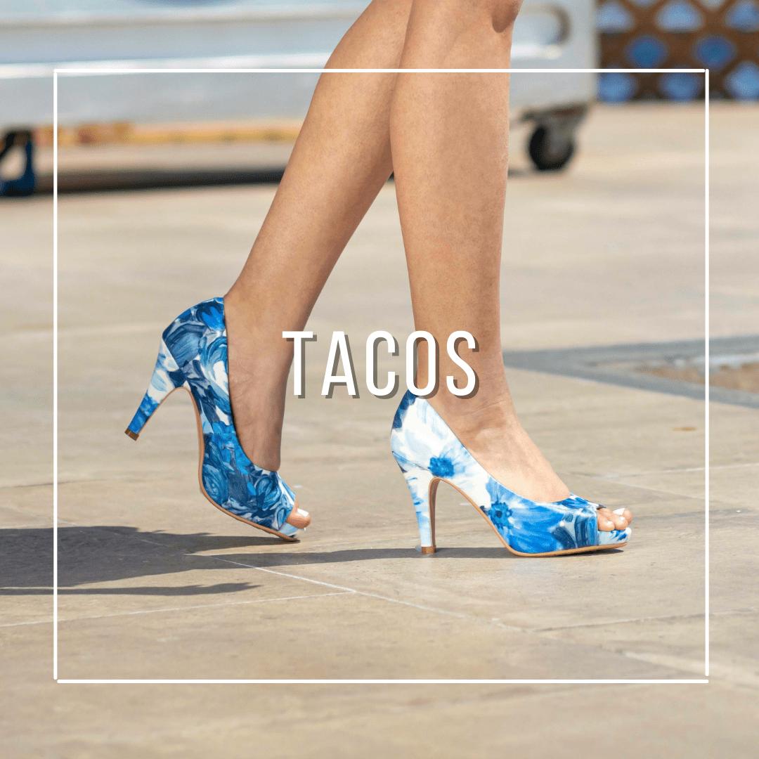 tacos, zapatos altos