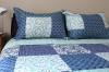 Colcha Quilt Estampada Azul