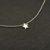 Collar silver star 6mm