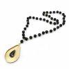 Collar largo bronce onix