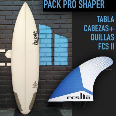 Pack Pro Shaper [Tabla Cabezas + Quillas FCS II] M1