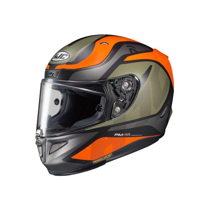 negro//naranja//verde HJC Cascos de motocicleta talla XS