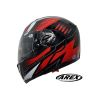CASCO AREX ABATIBLE MR 701 GRAPHIC ROJO