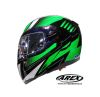 CASCO AREX ABATIBLE MR 701 GRAPHIC VERDE