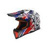 CASCO LS2 MX 437 FAST STRONG BLANCO AZUL ROJO