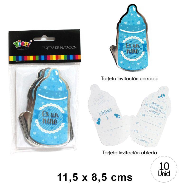 Tarjeta Invitación Baby Shower Niño 10 Un
