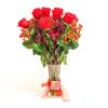 Arreglo de Rosas rojas y Proteas