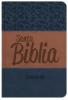 Biblia Letra Grande con Himnario - Azul y marrón