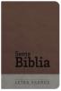 Biblia Letra Grande con Himnario - Chocolate y gris