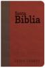 Biblia Letra Grande con Himnario - Granate y chocolate