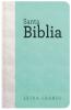 Biblia Letra Grande con Himnario - Verde agua y gris