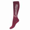 Horze Crescendo Crystal Winter Knee Socks Paloma Rio Red  39/41