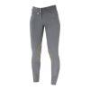 Horze Grand Prix Women's Extend Leather Knee Patch Breeches  Silver Grey