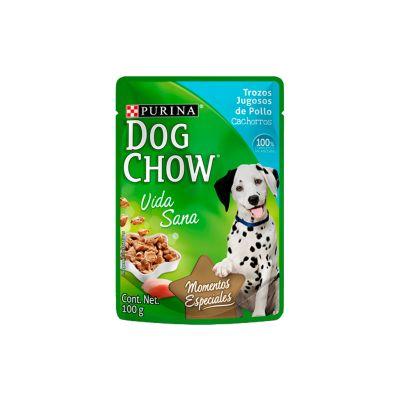 Dog Chow Pouch Cachorro 100 Gr Trozos Jugosos de Pollo BR1