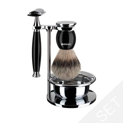 Boker Shaving Set Deluxe Black1
