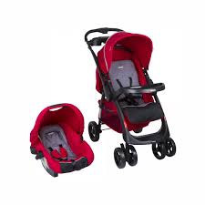 Coche Travel System Andes Mist Red3