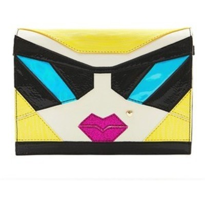BETSEY JOHNSON FACE CROSSBODY MULTI